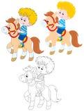 Little Rider Stock Image