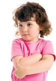 Little ringlet girl Royalty Free Stock Image