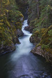 The Little River. Qualicum River at Qualicum Falls Provincial Park near Parksville, British Columbia on Vancouver Island, Canada Royalty Free Stock Photo