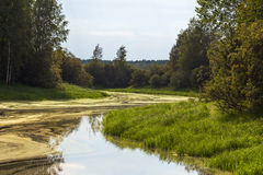Little river in a swampy area Stock Photos