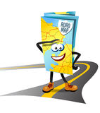Little road map character. Vector illustration of anthropomorphic road map Royalty Free Stock Photo