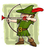Little Robin Hood. Royalty Free Stock Images