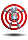 Little robot as a target Royalty Free Stock Photos