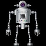 Little robot, electronic, computer device. Stock Photo