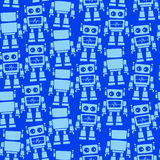 Little robot front and back seamless pattern.  Stock Images