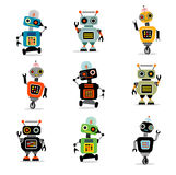 Little robots set 3 Royalty Free Stock Image