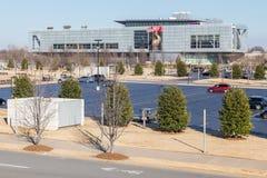 Little Rock, AR/USA - circa Februari 2016: William J Clinton Presidential Center en Bibliotheek in Little Rock, Arkansas stock afbeeldingen