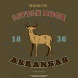 Little Rock, Arkansas Grafico della maglietta Vettore Immagini Stock Libere da Diritti