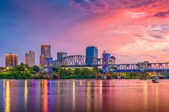 Little Rock, Arkansas, orizzonte di U.S.A. immagini stock