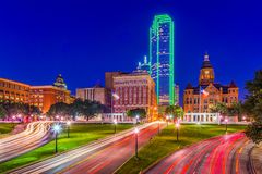 Dealey Plaza Dallas. Little Rock, Arkansas, USA downtown skyline on the Arkansas River Royalty Free Stock Photo