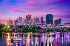 Little Rock Arkansas Skyline. Little Rock, Arkansas, USA downtown skyline on the Arkansas River Stock Photography