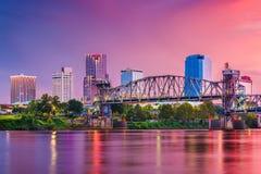 Little Rock Arkansas, USA horisont fotografering för bildbyråer