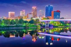 Little Rock Arkansas, USA horisont arkivbilder