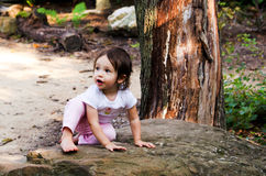 Little rock climber Royalty Free Stock Photo
