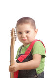 Little rock guitarist Stock Image