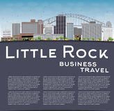 Little Rock Skyline with Grey Building and Blue Sky Royalty Free Stock Photos