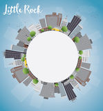 Little Rock Skyline with Grey Building, Blue Sky and copy space Stock Photography