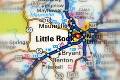 Little Rock, U S Zustand von Arkansas stockfotografie