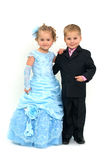 Little romantic couple Royalty Free Stock Images