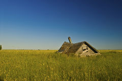 Little roof on the prairie Royalty Free Stock Images