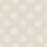 Little Rose beige background. Vector Illustration. Stock Photos