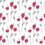 Little Rose seamless background. Vector Illustration. Royalty Free Stock Photo