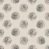 Little Rose seamless background. Vector Stock Photos