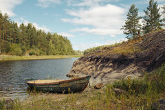 Little rowing boat Royalty Free Stock Images