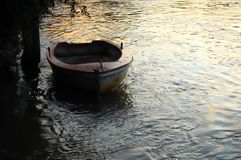 Little rowing boat royalty free stock photo