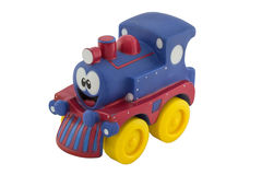Little rubber toy train Stock Photography