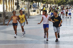 Little Runners, Havana Stock Photos
