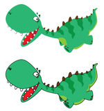 Little running dino Royalty Free Stock Images