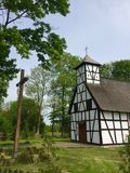 Little rural church in Garbno Poland Stock Photos