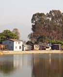 Little rural houses over water, Nam Sang Wai, HK Stock Image