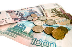 A little Russian money in cash Stock Images