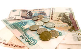 A little Russian money in cash Stock Photography