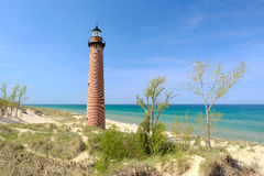 Little Sable Point Lighthouse in dunes, built in 1867. Lake Michigan, MI, USA Royalty Free Stock Image