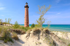 Little Sable Point Lighthouse in dunes, built in 1867 Royalty Free Stock Photo
