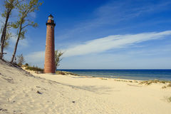 Little Sable Point Lighthouse in dunes, built in 1867 Stock Photo
