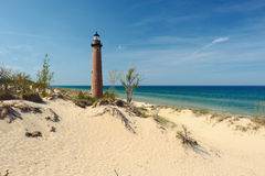 Little Sable Point Lighthouse in dunes, built in 1867 Stock Photography