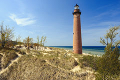 Little Sable Point Lighthouse in dunes, built in 1867 Royalty Free Stock Image