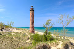 Little Sable Point Lighthouse in dunes, built in 1867. Lake Michigan, MI, USA Royalty Free Stock Images