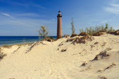 Little Sable Point Lighthouse in dunes, built in 1867. Lake Michigan, MI, USA Royalty Free Stock Photography
