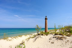 Free Little Sable Point Lighthouse In Dunes, Built In 1867 Stock Photos - 78118003