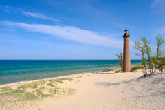 Free Little Sable Point Lighthouse In Dunes, Built In 1867 Royalty Free Stock Images - 79202779