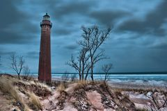 Little Sable Point Lighthouse. Picture is of  Little Sable Point Lighthouse near Ludington Michigan.  This lighthouse is located on Lake Michigan Royalty Free Stock Photography