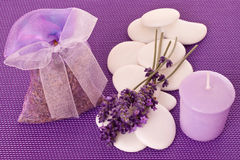 Little sack of lavender Royalty Free Stock Image
