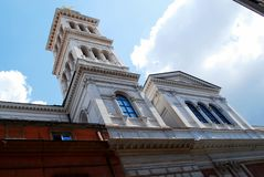 Little Sacro Cuore church in Rome near Termini station Royalty Free Stock Photo