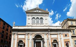 Little Sacro Cuore church in Rome near Termini station Royalty Free Stock Images