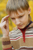 Little sad boy Royalty Free Stock Images